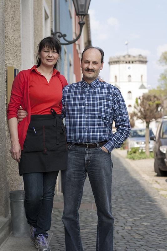 Die Pächter Silvia und Martin Schöffel